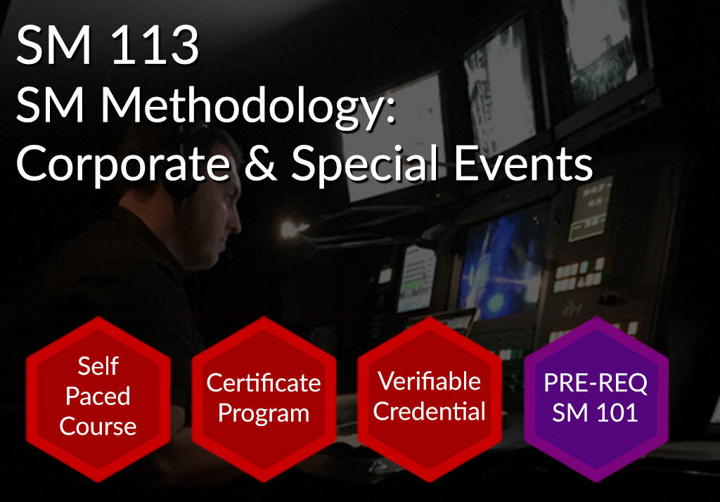 SM 113  |  SM Methodology: Corporate & Special Events