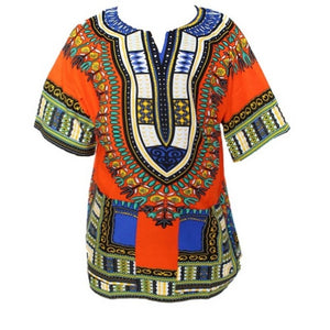 Traditional African Dashiki - Orange