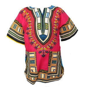 Traditional African Dashiki - Rose