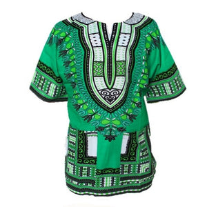 Traditional African Dashiki - Green