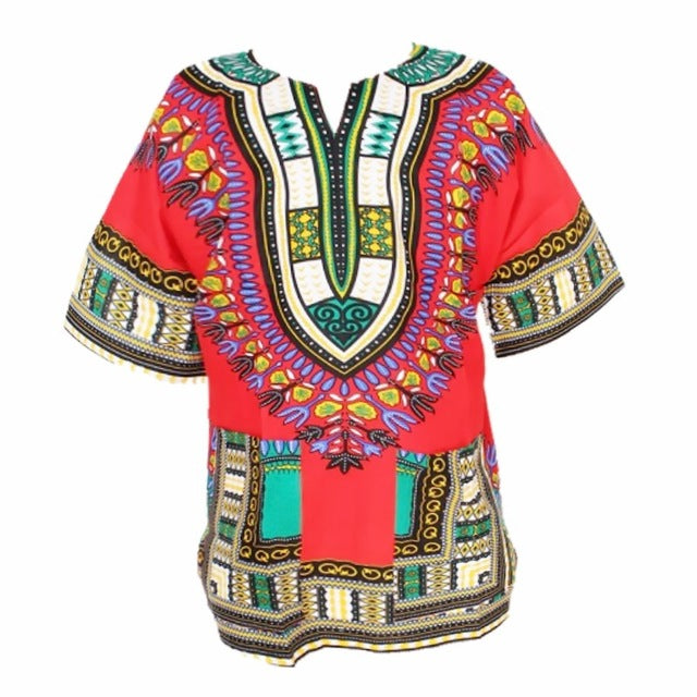 Traditional African Dashiki - Red
