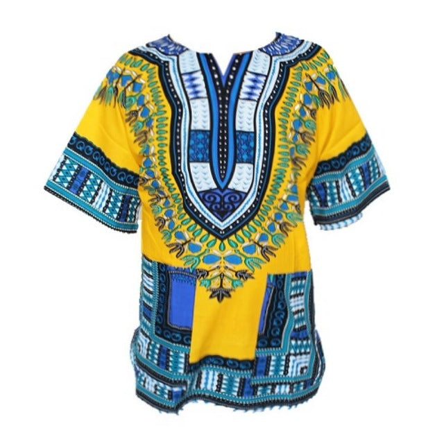 Traditional African Dashiki - Yellow