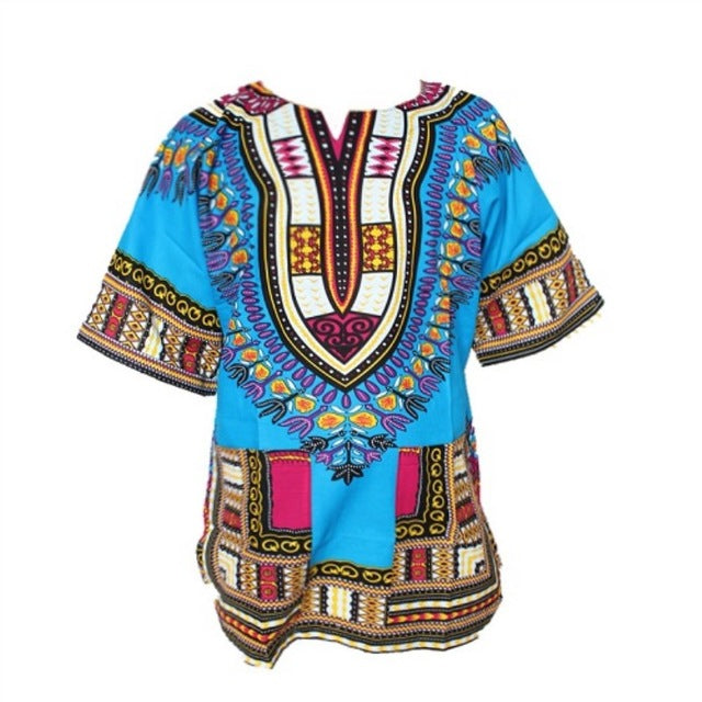Traditional African Dashiki - Sky Blue