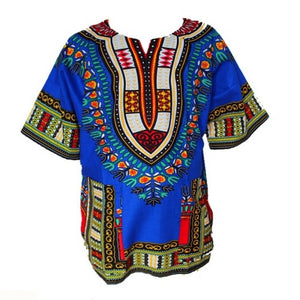 Traditional African Dashiki - Blue