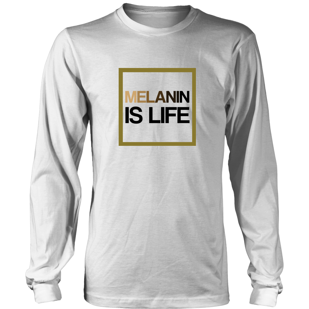Melanin Is Life Signature Long Sleeve T-Shirt