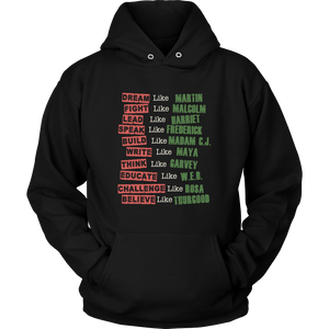 Fight Like Melanin Icons Hoodie
