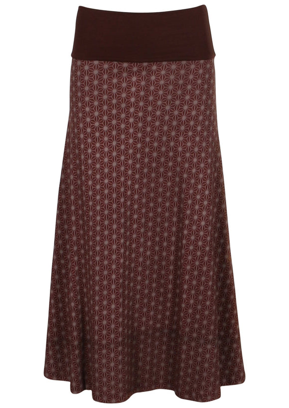 Flower of Life Long Skirt - Shiraz