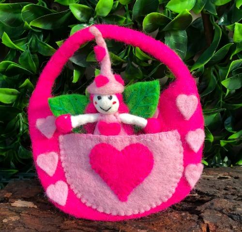 Love Witch Faery - Felted Bag