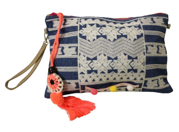 Boho denim purse
