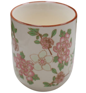 Pink flowers cup