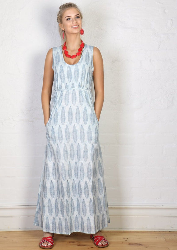 Eden Maxi Dress Feathers **SUMMER CLOTHING SALE**