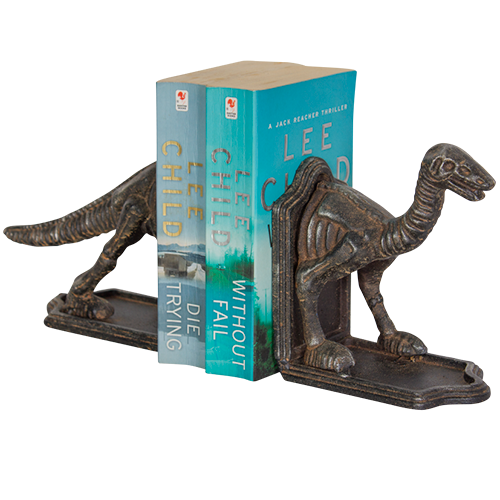 Dinosaur book ends **reduced to clear**