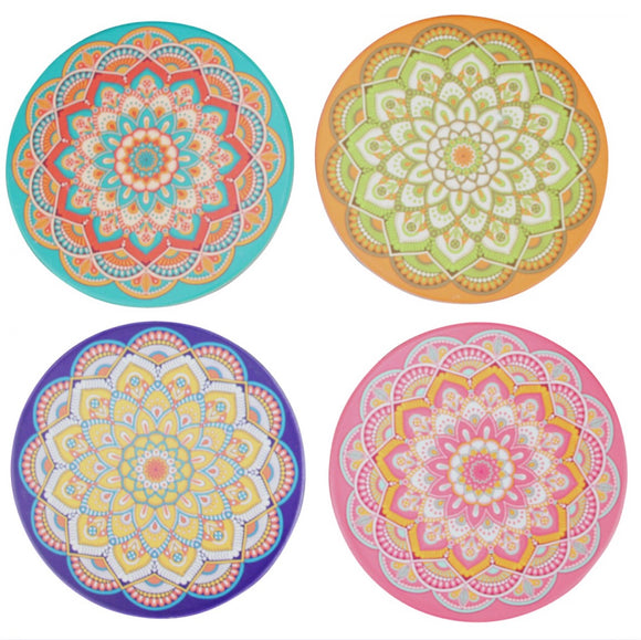 Mandala drink coasters - set of four