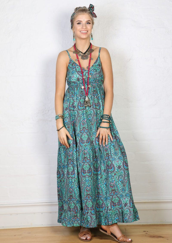 Maxi Dress - Aqua **SUMMER CLOTHING SALE**