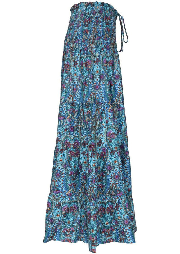 Paisley Romani Maxi Skirt - aqua **SUMMER CLOTHING SALE**