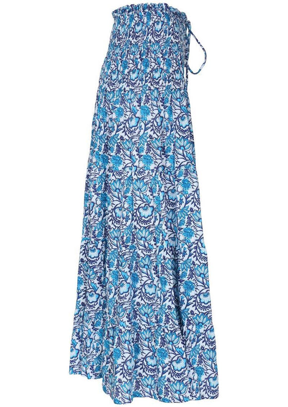 Paisley Romani Maxi Skirt - jaipur blue **SUMMER CLOTHING SALE**