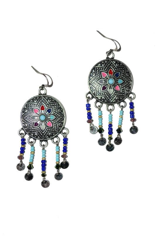 Beaded Tassle Earrings