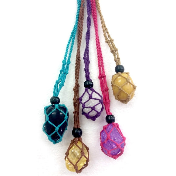Macrame Gemstone Holder