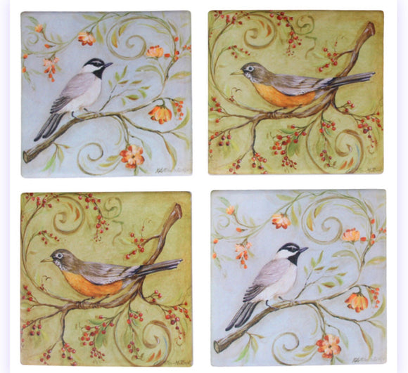 Bird Drink Coasters - set of 4