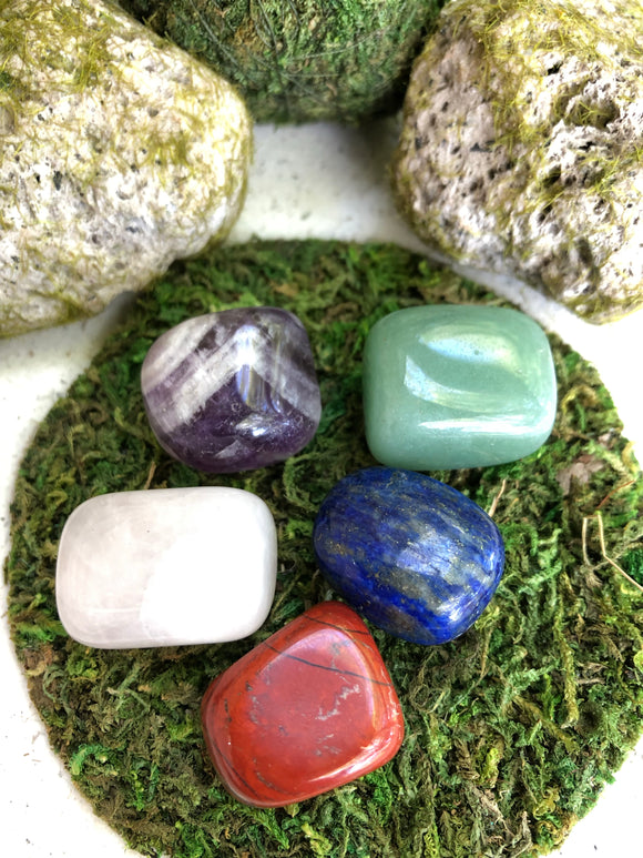 Set of 5 Tumbled Stones