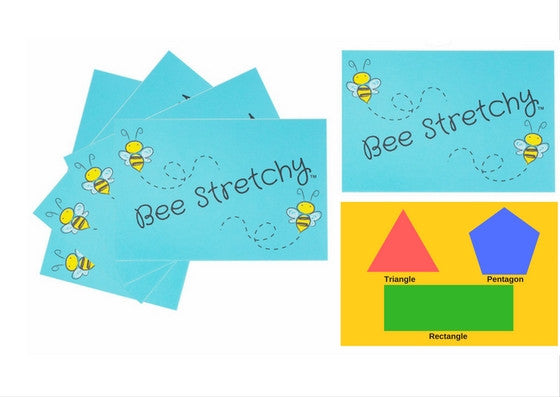 Bee Stretchy Flash Cards - Bee Stretchy
