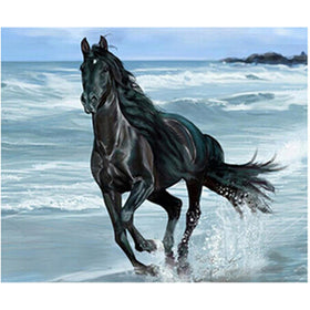Diamond Painting Black Horse (Various sizes to choose from) - Gift-Frog