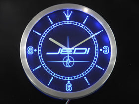 Jedi Star Wars Neon Sign LED Wall Clock - Gift-Frog