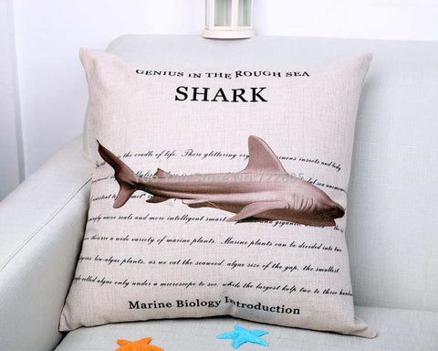 Ocean Sea Coral Decorative Pillow Cover 100% Cotton 45x45cm (18*18 In) - Gift-Frog