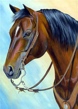 Brown Horse Diamond Painting - Gift-Frog