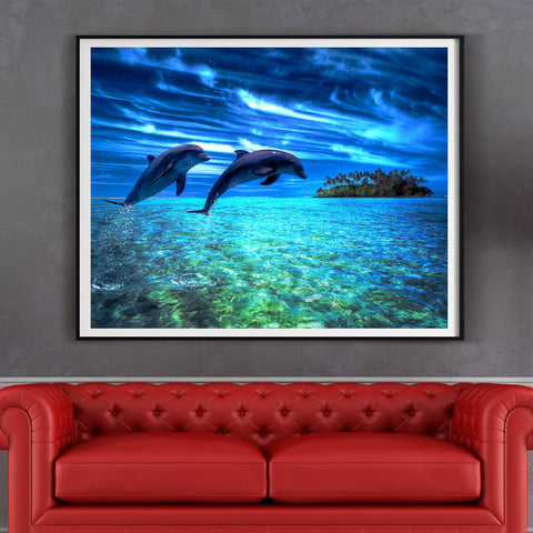 Diamond painting dolphin - Gift-Frog