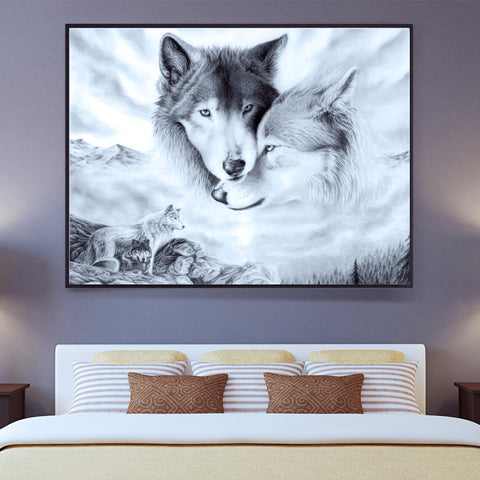 Diamond painting wolves - Gift-Frog