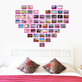 Heart Design photo frame wall sticker - Gift-Frog
