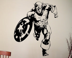 Captain America Wall Decal Marvel Comics - Gift-Frog