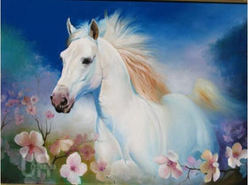 Diamond painting colorful horse - Gift-Frog