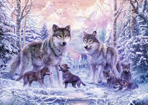 Wolf family diamond painting - Gift-Frog