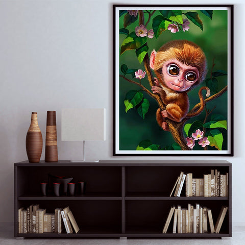 Diamond painting Monkey in tree - Gift-Frog