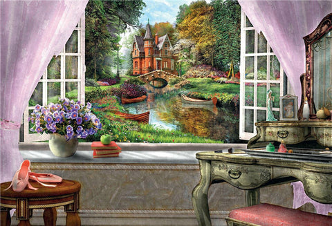 Diamond painting Landscape Garden Lodge - Gift-Frog
