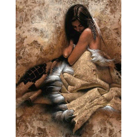 Diamond Painting Native Lady - Gift-Frog