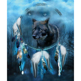Diamond Painting animal wolf dreamcatcher - Gift-Frog