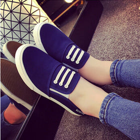 2017 women canvas shoes low breathable women solid color flat shoes casual shoe