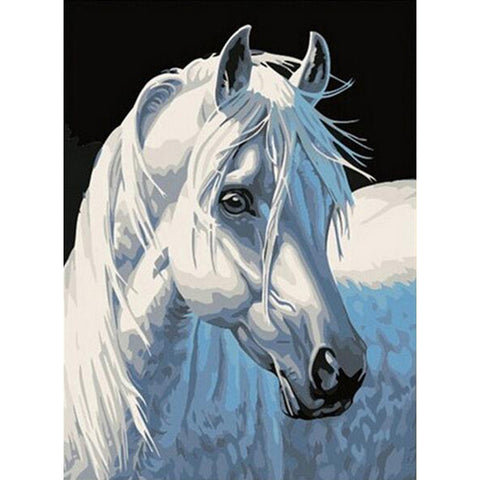 Diamond painting white horse - Gift-Frog