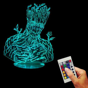 USB Remote Controlled Guardians of the Galaxy Groot Lamp 3D - Gift-Frog