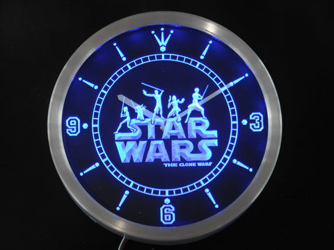 Star Wars Neon Sign LED Wall Clock - Gift-Frog