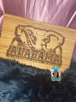 "Load image into Gallery viewer, 11"" X 17"" Engraved Bamboo Cutting Board"