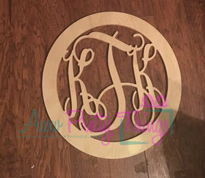 Circle Border with Monogram