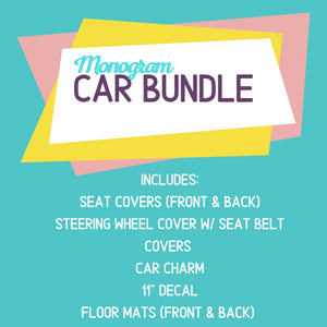 Monogram Car Bundle