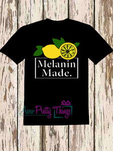 Melanin Made Lemonade Melanin Poppin T-Shirt  Melanin Queen Nineties Theme Melanin Shirt 90's Melanin Movement Minute Maid Inspired Melanin