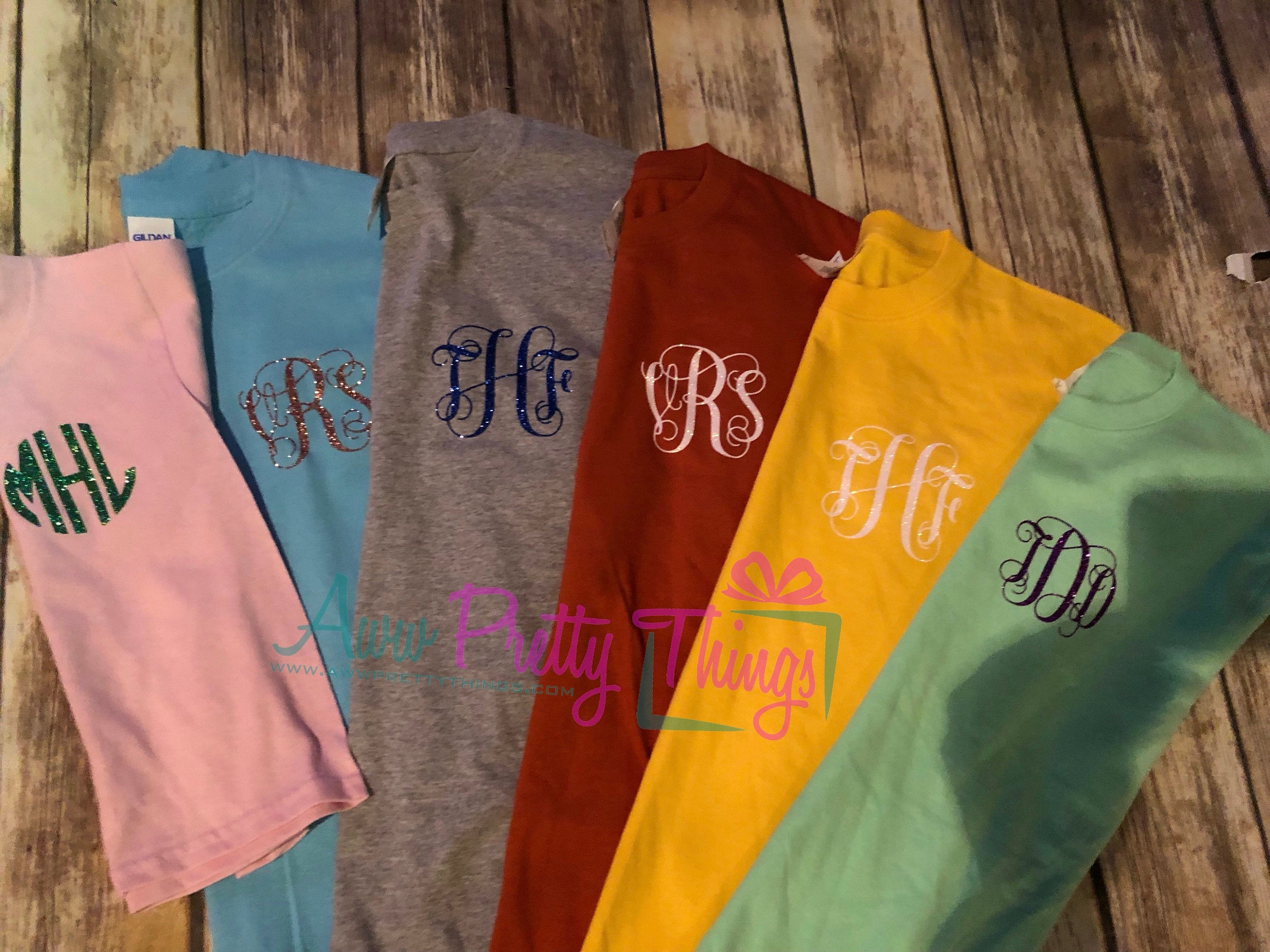 Suprise Me Tee Pocket Size Monogram Monogram Shirt Gift Stocking Stuffer Monogram Tee
