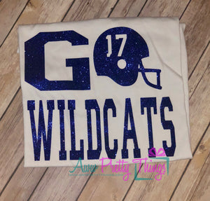 Gameday Shirt Spirit Shirt School Spirit Shirt Go Wildcats Go Mascot Football Shirts Friday Night Lights