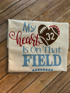 My Heart Is On That Field Love Football Gameday Shirt Spirit Shirt School Spirit Shirt Go Wildcats Go Mascot Football Shirts Friday Night Li